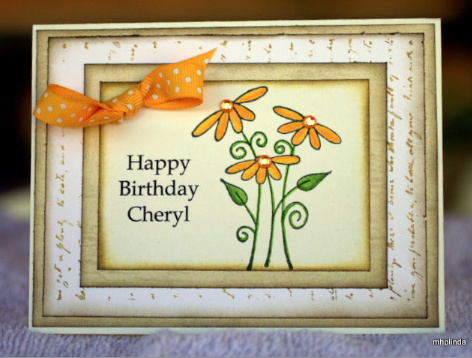 City Crafter Challenge Blog: Happy Birthday Cheryl!!!!