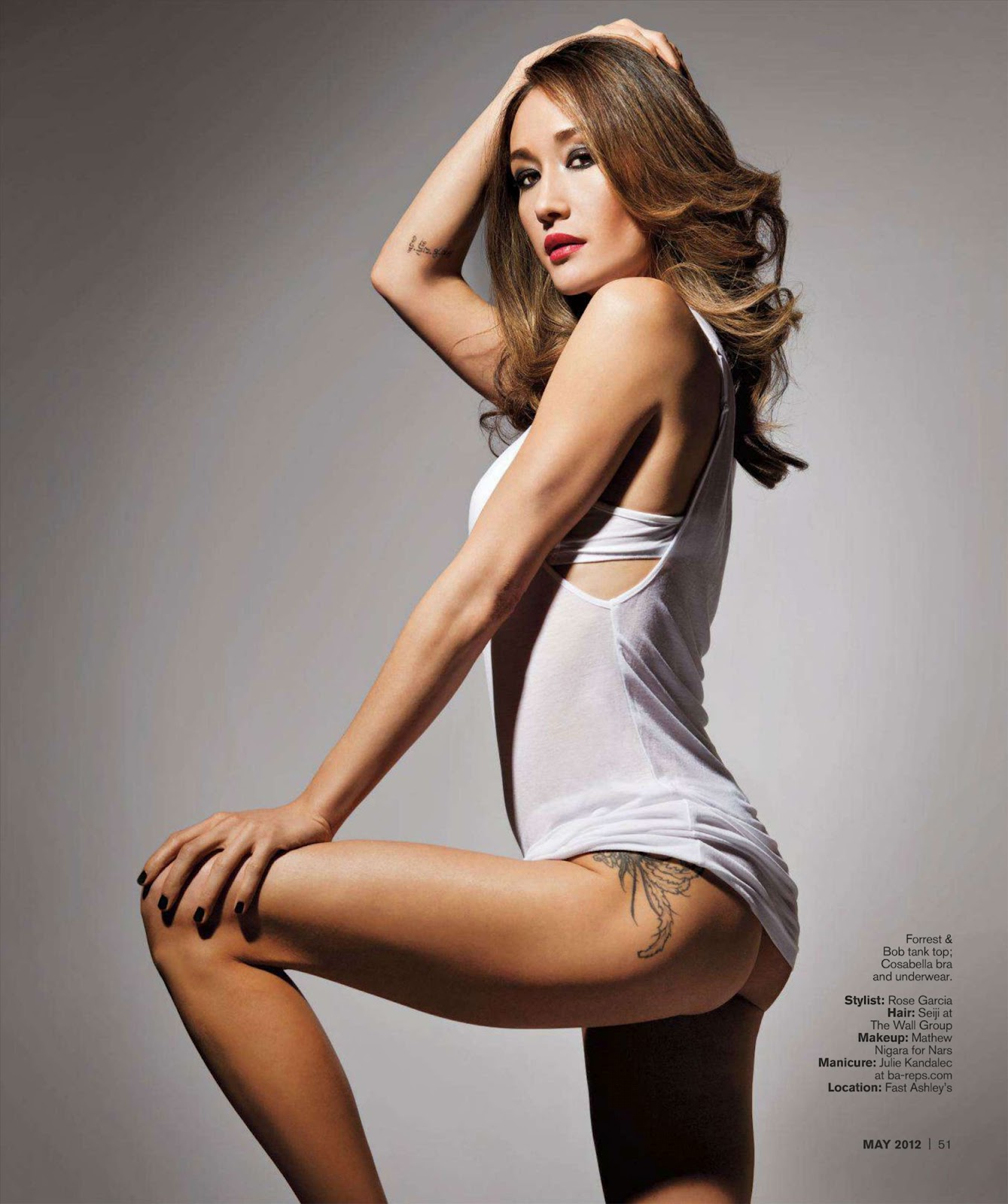 Maggie Q Baring Ass And Her Tattoos In Inked Magazine – SexMenu.ORG