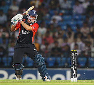 Andrew Strauss strikes one square of the wicket, England v Netherlands, Group B, World Cup, Nagpur, February 22, 2011