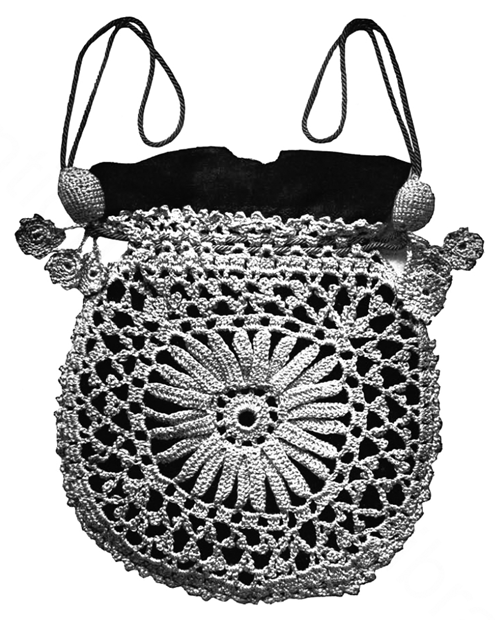 Crochet Evening Bag Pattern : ... Evening Bag - 1916 Corticelli Lessons in Crochet - Free Pattern