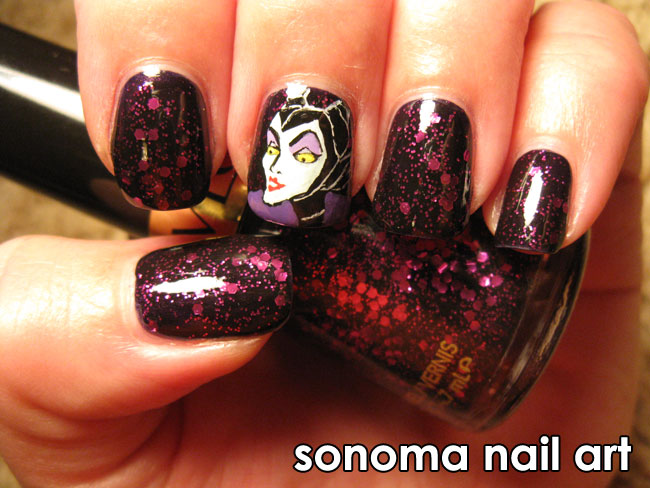 Sonoma Nail Art: Maleficent and Facets of Fuchsia *Giveaway Closed
