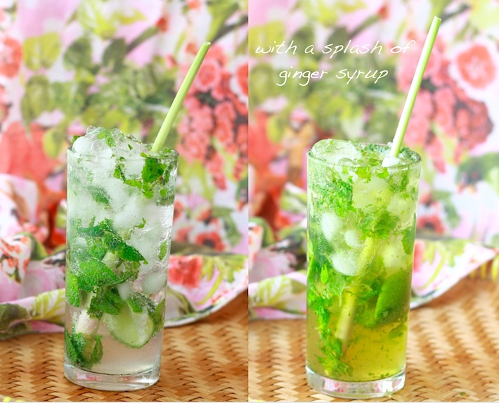 Lemongrass Ginger Ale Mojito recipe by SeasonWithSpice.com