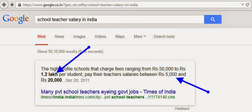 School teacher month salary in india benefits earning sources