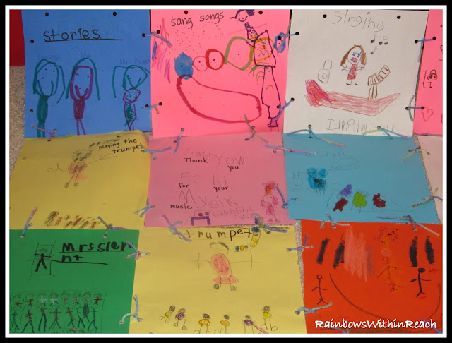 photo of: Quilt Thank You Writing for Author Visit via RainbowsWithinReach