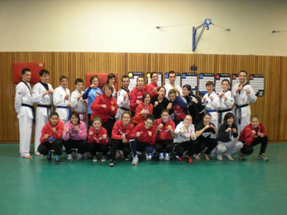 11/02/12: Entraînement avec l'équipe 1 féminine de Rodez