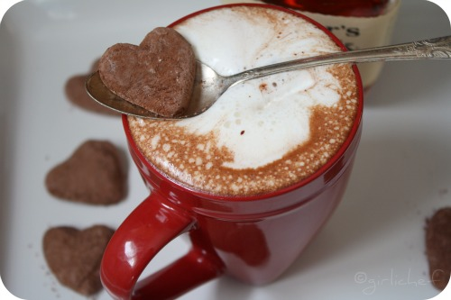 Dark Hot Chocolate with Bourbon Whipped Cream and Homemade Chocolate Marshmallows