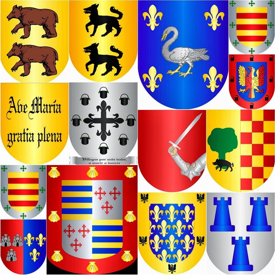 Collage V Heráldico escudo de los Apellidos