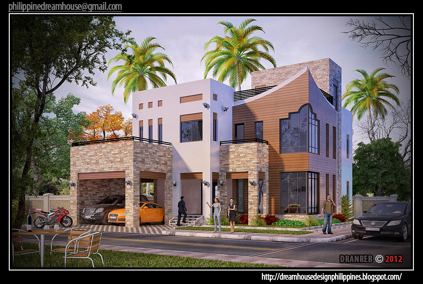 Philippine dream house design two storey house in cebu for Best house designs