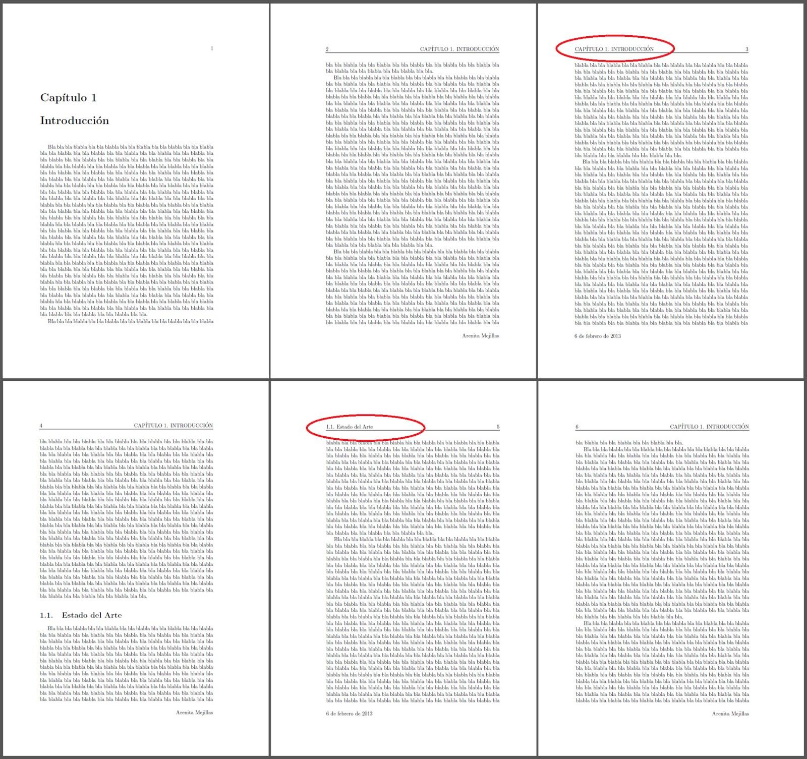 Aprendiendo LaTeX: Encabezados y pies de página en LaTeX