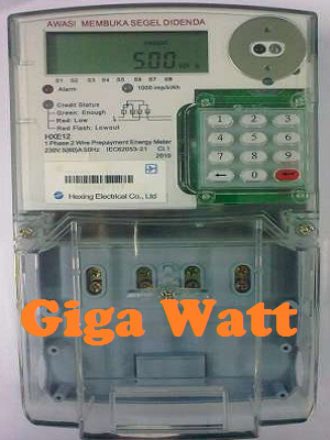 Fungsi Nomer Kode Pada KWH Meter Prabayar (Hexing)-GIGA WATT