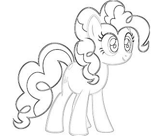 #6 Pinkie Pie Coloring Page