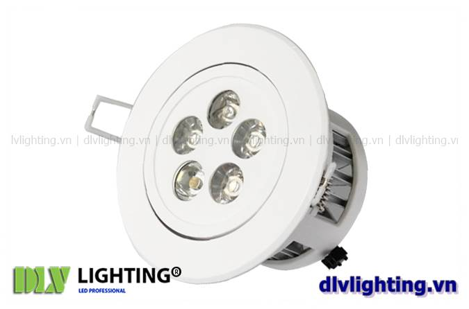 den led downlight am tran chieu roi 5w