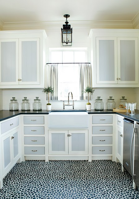 Bright As Yellow: Kitchen Inspiration: White Cabinets with Gray Panels