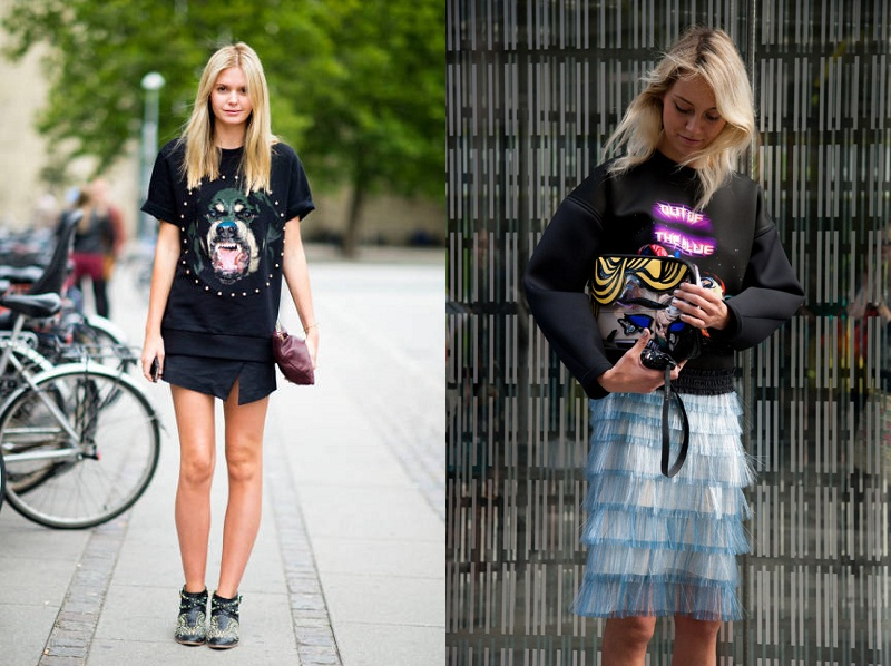 inspiration, street style, Givenchy Rottweiler T-shirt, trend, graphic trend, Balenciaga sweater