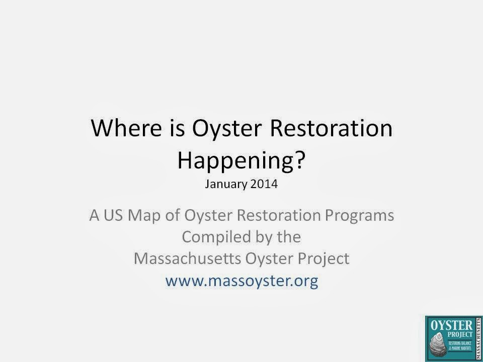 National Maps of Oyster Restoration