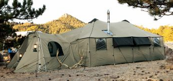 A wall tent as a survival shelter?