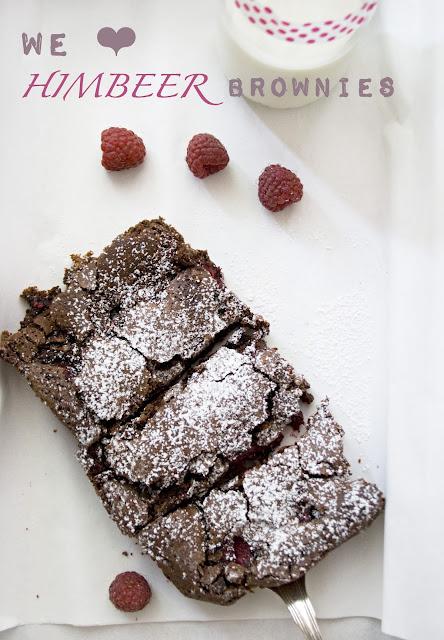 Himbeer Brownies selbstgemacht