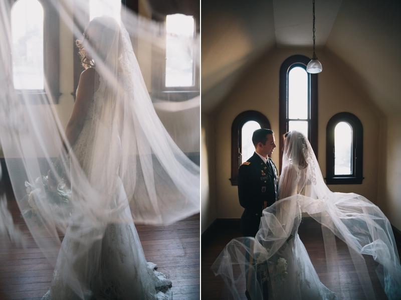 the bride and groom inside rhodes hall in atlanta