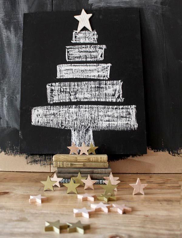 árbol de navidad de pizarra