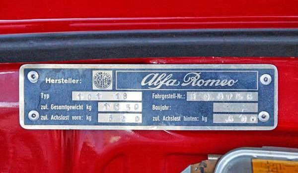 Alfa Romeo Giulia Spider Veloce Vin on Black Alfa Romeo Spider