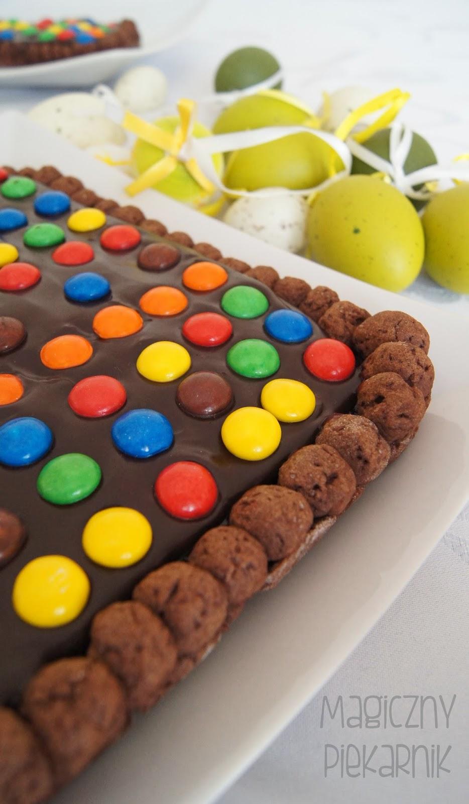 ciasto czekoladowe m&ms