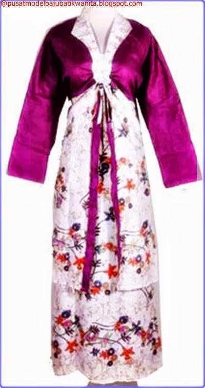 Model Baju Gamis Batik Pesat Kombinasi Dan Aneka Warna