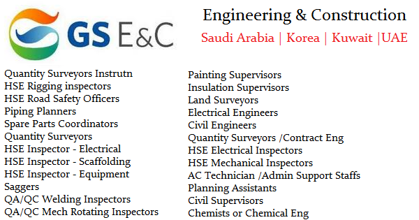 GS Engineering & Construction Jobs | Saudi Arabia | Korea | Kuwait ...