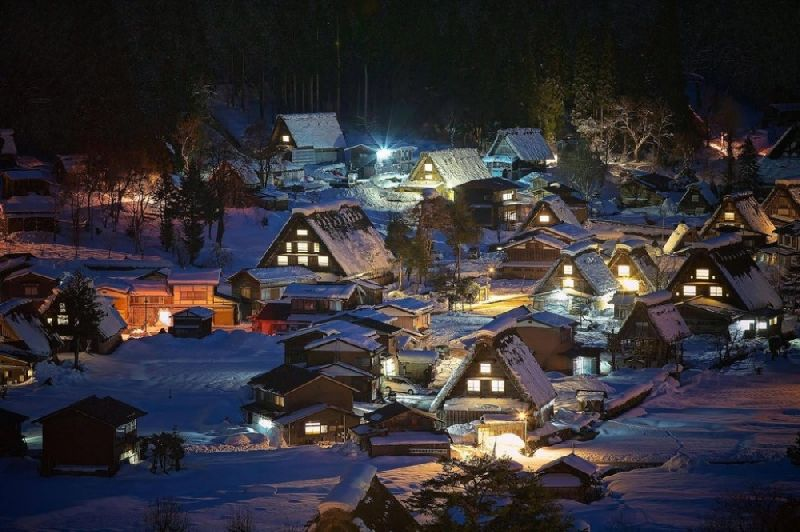 Tiny towns Shirakawa-go, Japan