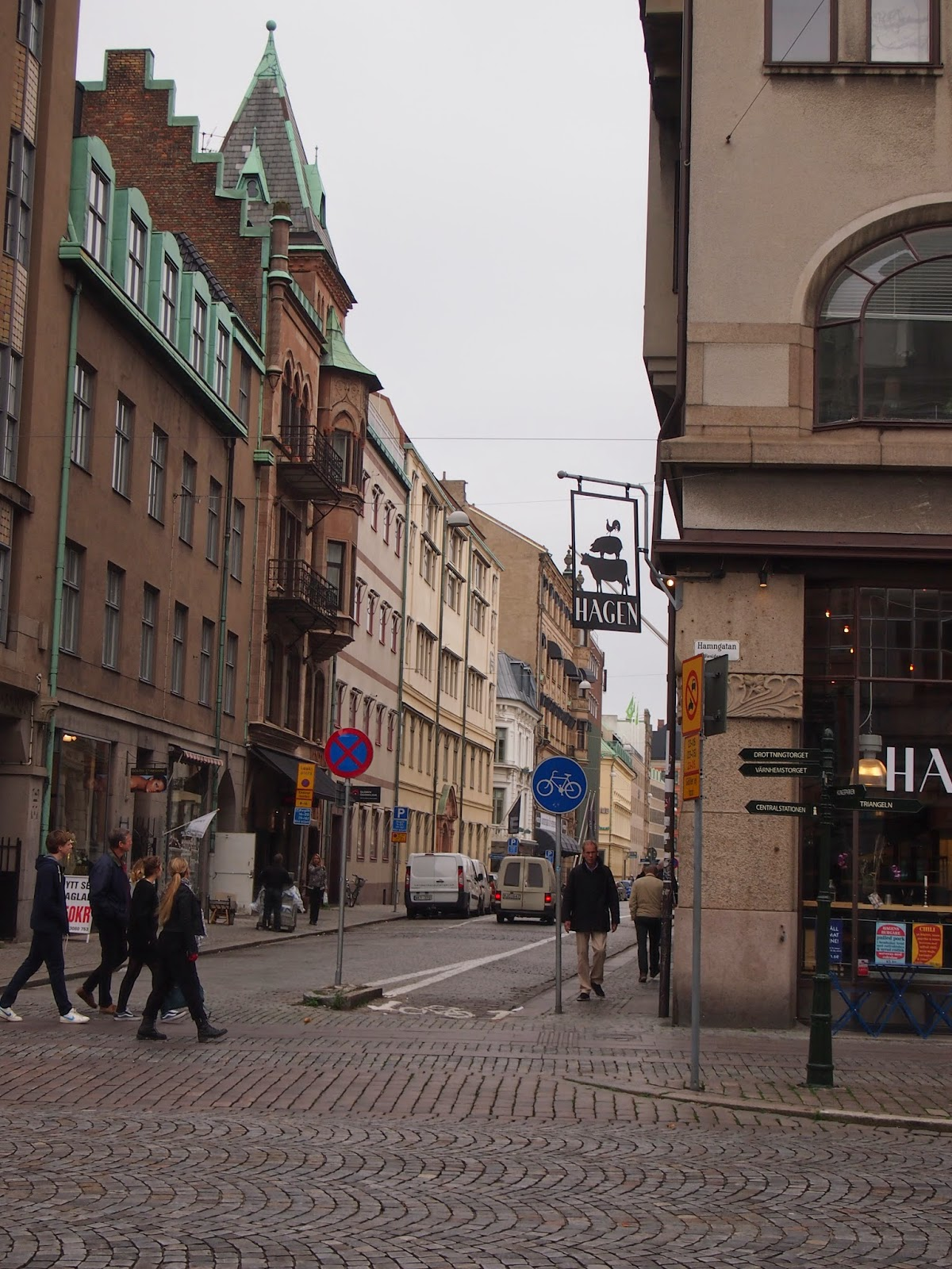 the roads leading up to Malmo Old Town