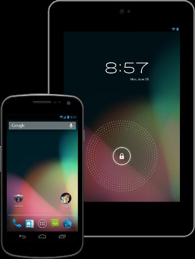 Nueva ventana de desbloqueo, android 4.1, Jelly Bean