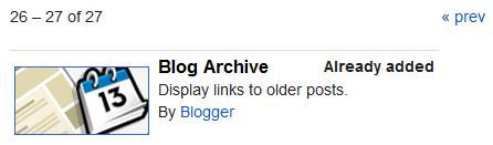 Menambahkan Widget Blog Archive/Arsip Blog