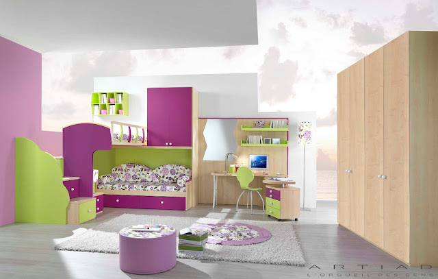 Id e d co chambre ado fille moderne for Chambre ado fille moderne