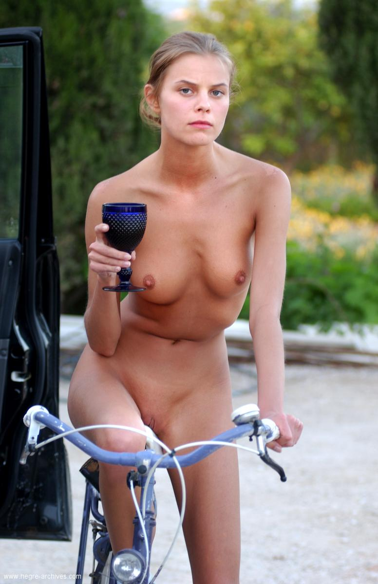 hungarian nude girl and bicycle