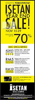 Isetan Year End Sale 2012