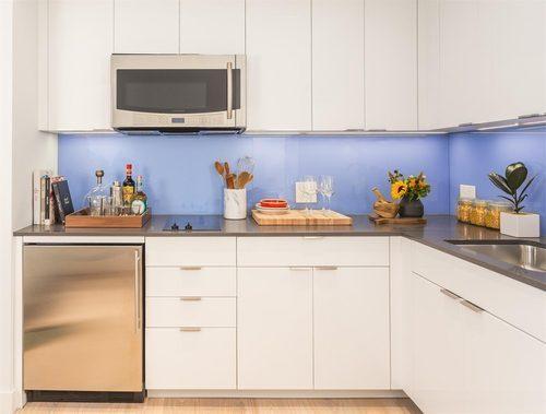 New York City micro apartment kitchen