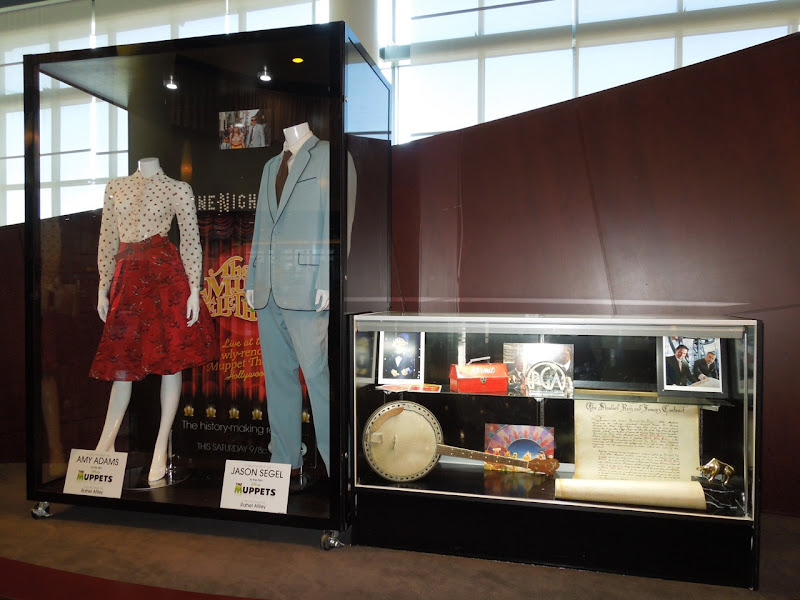 The Muppets movie costume and prop display
