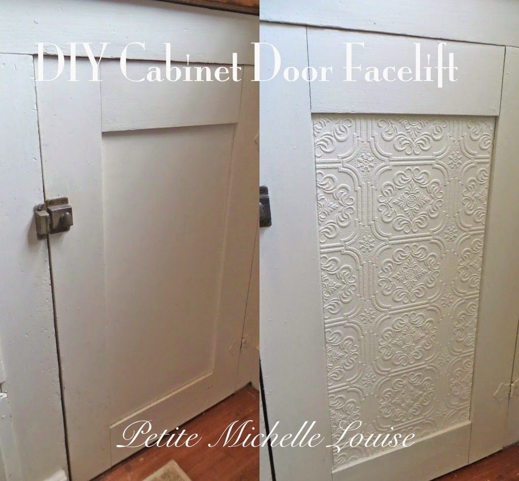 petite michelle louise diy cabinet door facelift. Black Bedroom Furniture Sets. Home Design Ideas