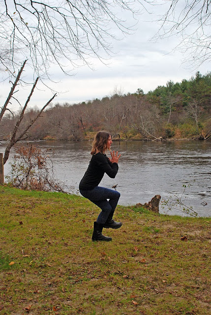 yoga+fleece+leggings - Snowflake Fleece Leggings: Outdoor Yoga