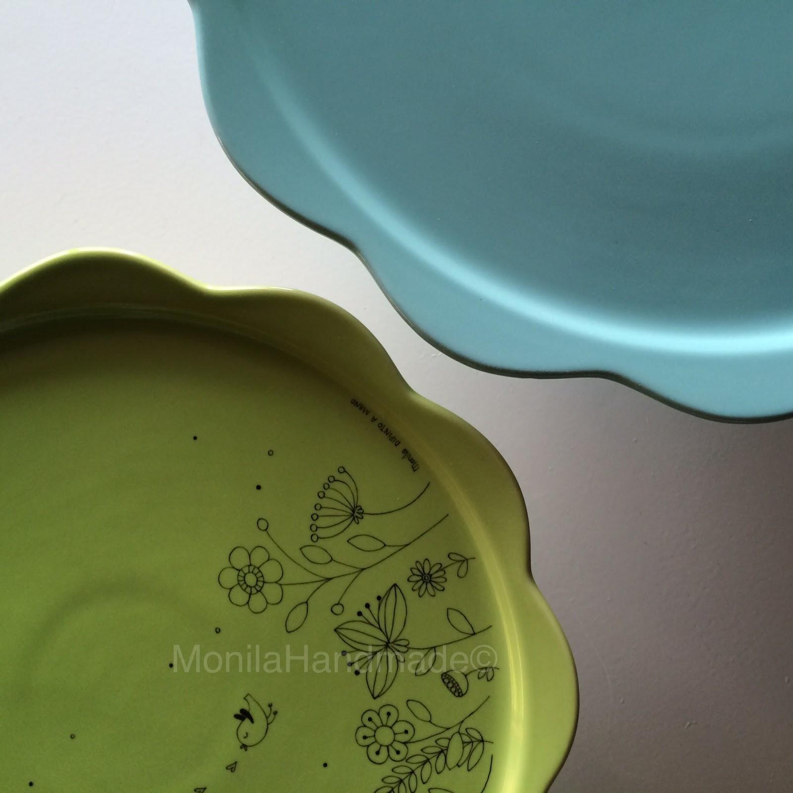 Monila Handmade,porcellana,dipinto a mano,alzatina