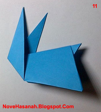 cara membuat origami kelinci yang lucu untuk anak-anak