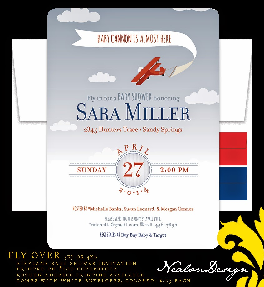 Nealon Design: FLY OVER Airplane Baby Shower