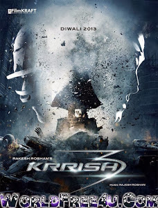 Poster Of Bollywood Movie Krrish 3 (2013) 300MB Compressed Small Size Pc Movie Free Download worldfree4u.com