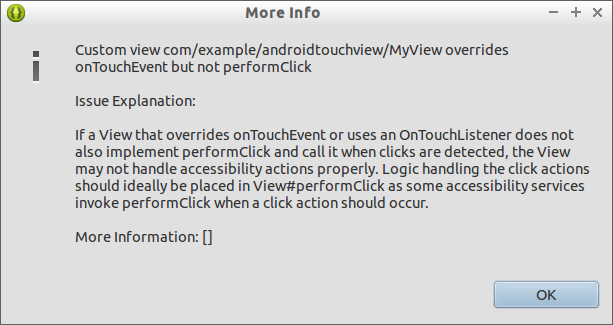 Warning: Custom Stance Overrides Ontouchevent Simply Non Performclick Together With #Ontouchevent Should Telephone Weep Upward #Performclick When A Click Is Detected