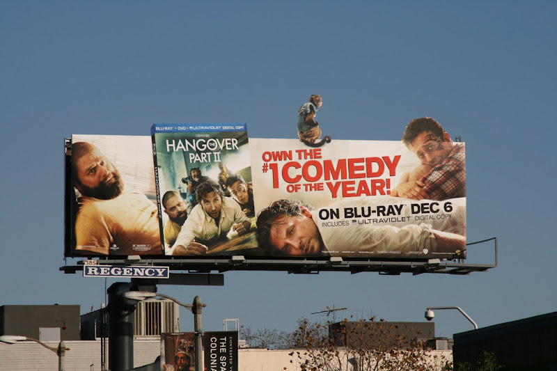 Hangover 2 Bluray movie billboard