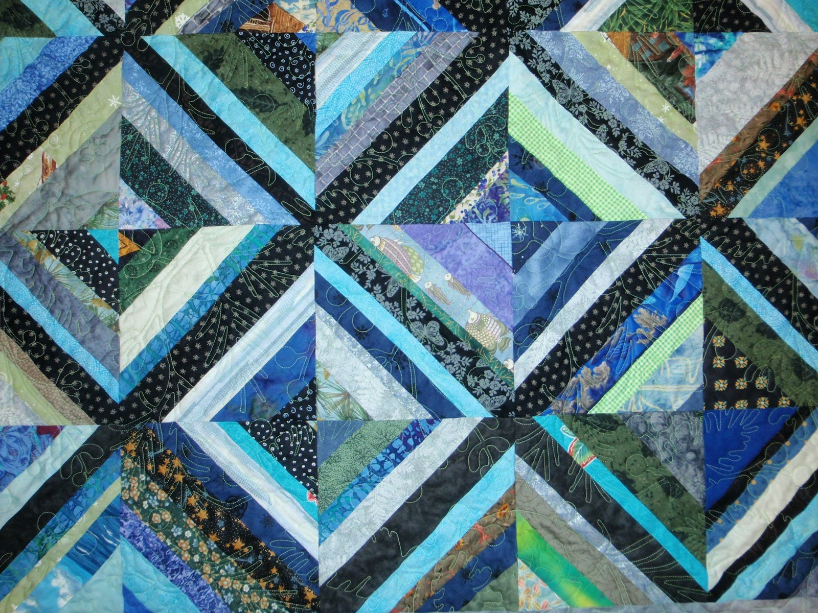 quilters enjoy color warm and cool color demo for