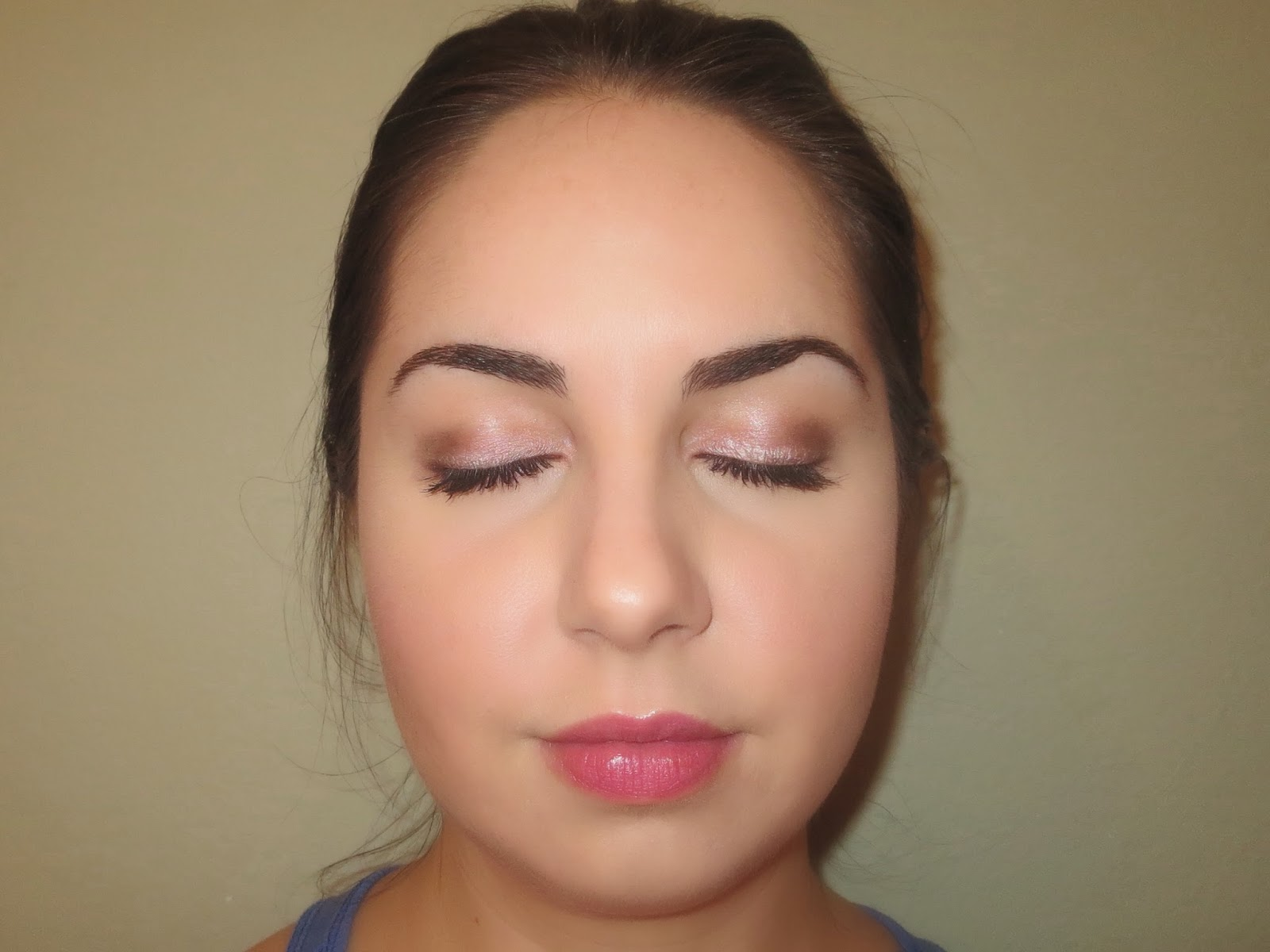 a picture of a soft romantic makeup look