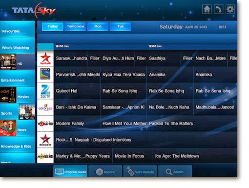 tata sky tv guide pdf