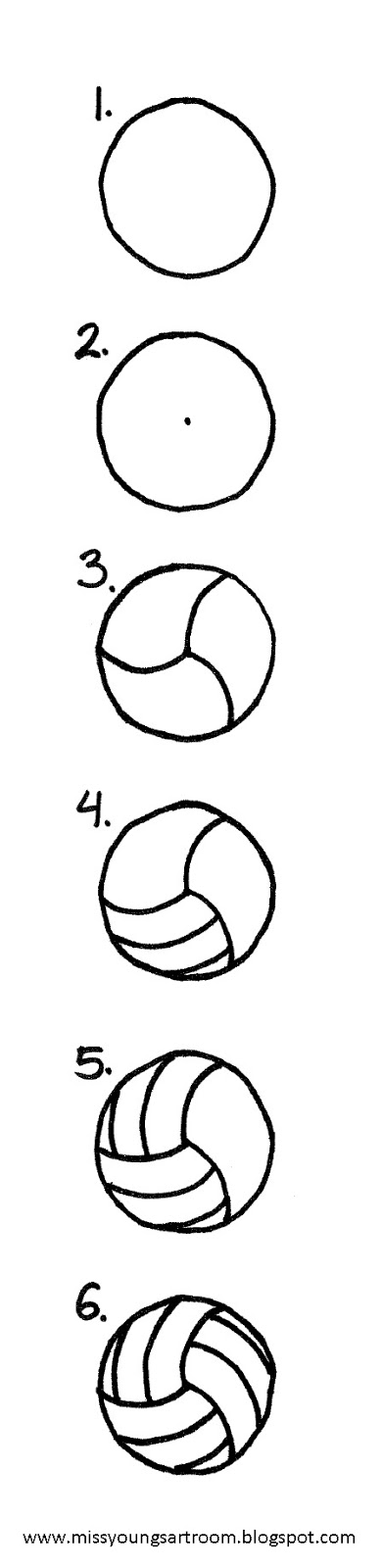 Miss Young S Art Room How To Draw A Volleyball