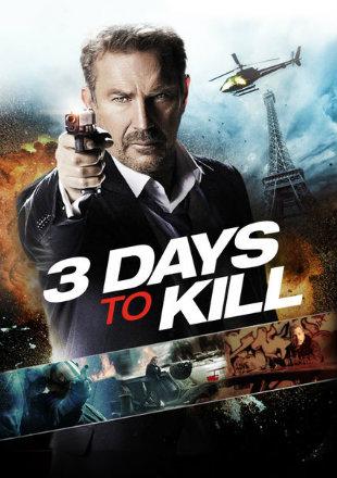 3 Days To Kill 2014 Dual Audio Hindi 300MB BluRay 480p x264 ESubs