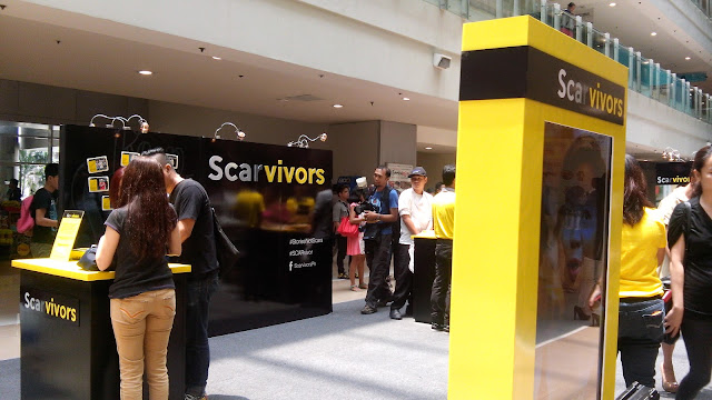 scarvivor exhibit, photobooth, free kit buy contractubex, megamall,